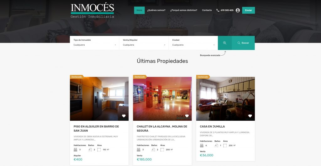 web inmoces.com